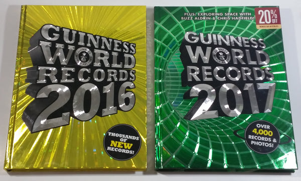 2016 and 2017 Guinness World Records Hardcover Book Set of 2