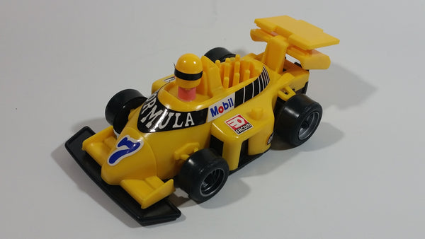 "Regal Greetings and Gifts No. 8048 Plastic Yellow Formula-1 Race Car #7 ""Mobil"" 7 In 1 Organiser New in Box"