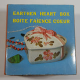 Regal Greetings and Gifts No. 4251 Earthen Heart Box Ceramic Jewelry Box Made in Japan