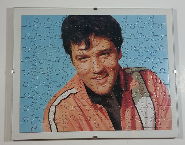 2007 Sure-Lox Legend's EPE Elvis Presley 100 Piece Puzzle Completed in Glass Covered Frame