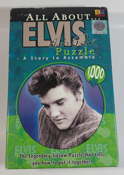 "2004 BGI EPE All About Elvis Presley ""A Story To Assemble"" 1026 Piece Jigsaw Puzzle With Box"
