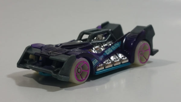 2018 Hot Wheels Glow Wheels Voltage Spike Purple Die Cast Toy Car Vehicle
