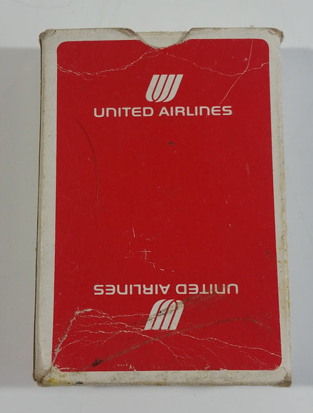 Vintage United Airlines Red 1 Pack Deck of Playing Cards 52 + 2 Jokers - Used
