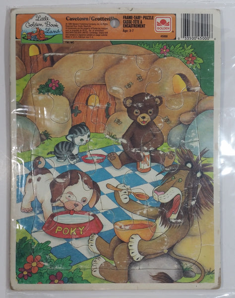 "1989 Whitman Western Publishing Company Little Golden Book Land ""Cavetown"" Tray Puzzle"