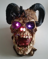 Rubie's Pirates of The Seven Seas LED Light Up Multiple Color Changing Ram Skull Table Decoration with Box