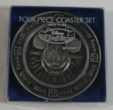 Walt Disney World Disney Treasure Four Piece Metal Coaster Set with Package
