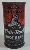 1960s White Rock Beverages Pure and Sparkling Root Beer 10 fl oz Puncture Flat Top Soda Can - Mira Can