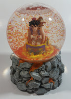 "Schmid Disney Aladdin Animated Movie Film Hand Painted Rotating 5 3/4"" Tall Musical Snow Globe Plays Arabian Nights"