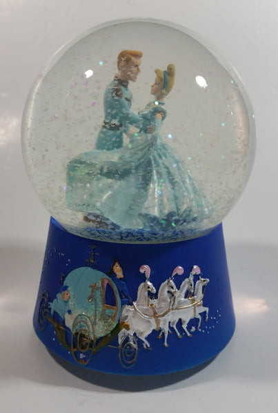 "Enesco Disney Cinderella Animated Movie Film 5 1/2"" Tall Musical Snow Globe Plays Let Me Call You Sweetheart"