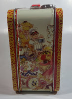 2012 Loungefly Disney The Muppet Show Embossed Yellow and Red Tin Metal Lunch Box