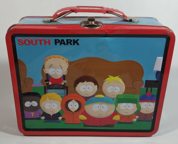 South Park Cartoon Television Show Halloween and Regular Clothing Embossed Tin Metal Lunch Box