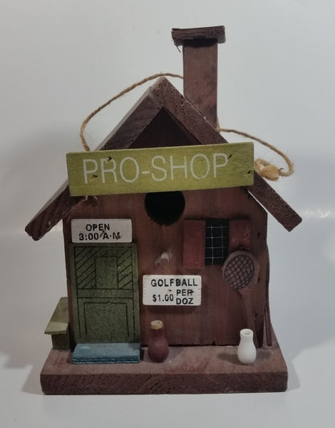 Pro Shop Golf Themed Highly Detailed Hanging Birdhouse Style Wood Building Model