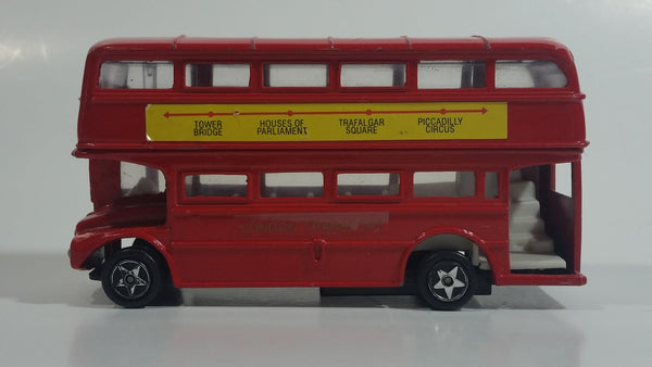 Route Master Double Decker Bus Red Die Cast Toy Car Vehicle