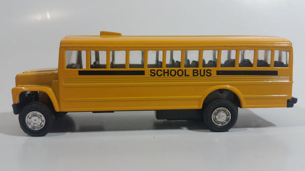 Toy Smith School Bus Yellow Pullback Friction Motorized Die Cast Toy Car Vehicle