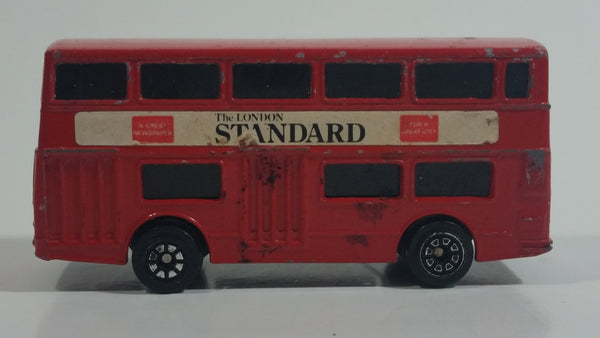 Vintage Corgi Juniors Auto City Daimler Fleetline 'The London Standard' Red Double Decker Bus Die Cast Toy Car Vehicle