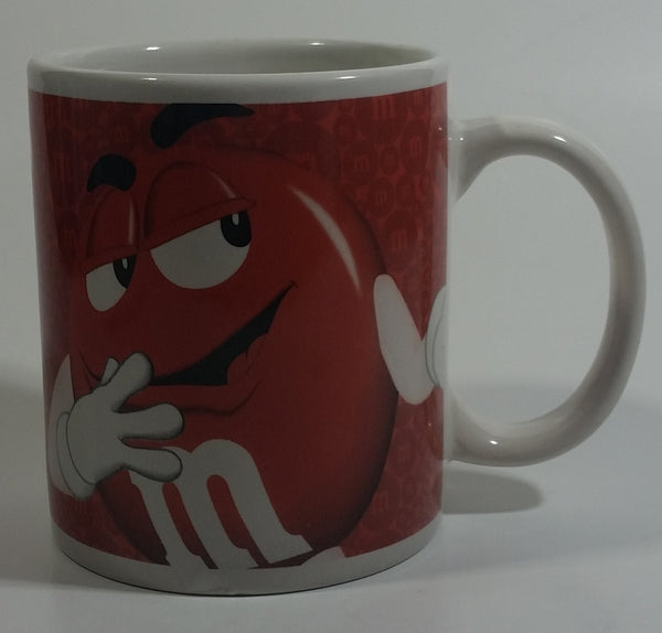 2011 Mars M & M's Red and Yellow Chocolate Candy Characters Ceramic Coffee Mug Collectible