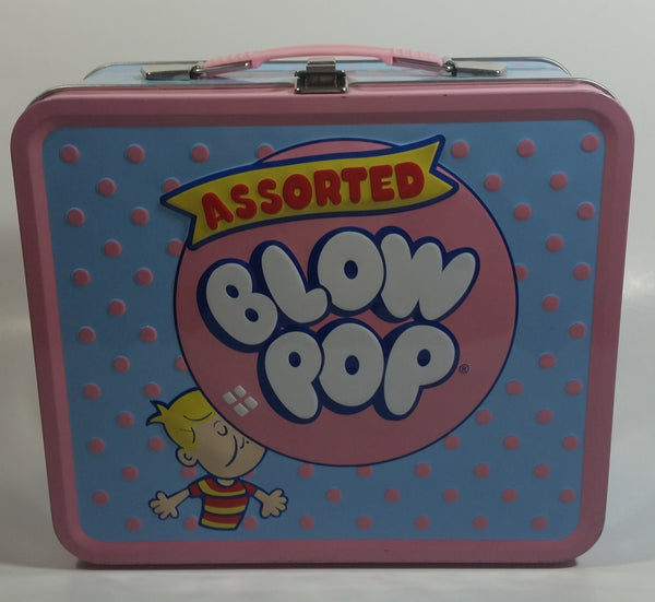 2010 TRI Loungefly Assorted Blow Pop Embossed Tin Metal Lunch Box