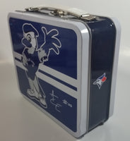"MLB Baseball Team Toronto Blue Jays ""Ace"" #00 Mascot Themed Blue Tin Metal Lunch Box"