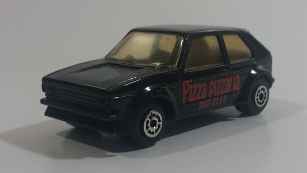 Maisto VW Golf GTI Pizza Pizzaria 967-1111 Black Die Cast Toy Car Vehicle