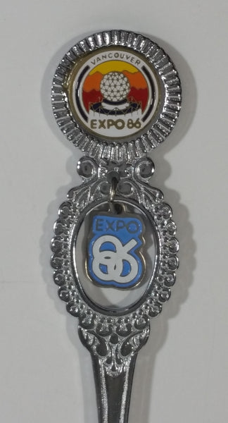 1986 Vancouver Exposition Expo 86 Science Center Metal Spoon with Charm Souvenir Travel Collectible