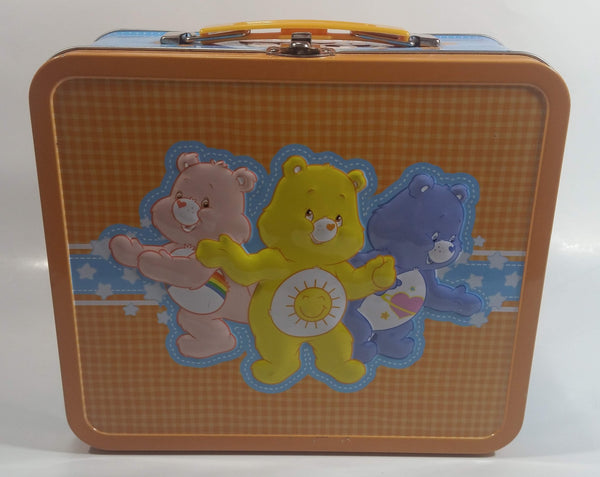 2010 Care Bears Cartoon Characters Embossed Tin Metal Lunch Box