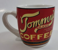 Tommy's Brand Balanced Blend Coffee Red Ceramic Coffee Mug Cup