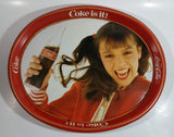Vintage 1982 Coca-Cola Coke is it! Enjoy Coke Kim Christmas Tray Canadian Edition Metal Beverage Serving Tray