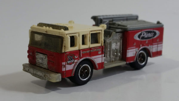 2013 Matchbox MBX Heroic Rescue Pierce Fire Engine Red and White Die Cast Toy Car Vehicle