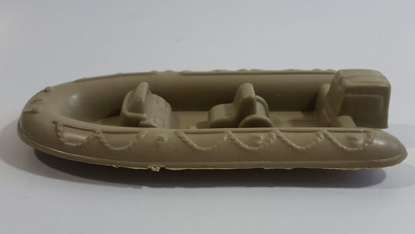 "Unknown Brand Inflatable Style 5"" Long Brown Plastic Sportsmen Fishing Boat"