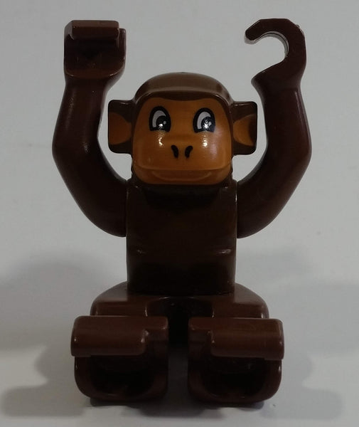 1990-2002 Lego Duplo Brown Monkey Plastic Toy Zoo Animal Figure
