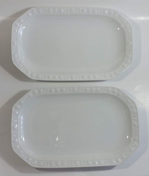 Old Vintage Kimberly By Winterling Porzellan Germany Bavaria White Porcelain China Serving Platters Set of 2