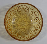 "Vintage Yellow Orange 4 3/8"" Depression Glass Nut Candy Dish"