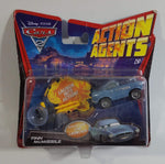 2010 Mattel Disney Pixar Cars 2 Action Agents Finn McMissle Blue Die Cast Toy Car Vehicle with Spy Gear Car Launcher New in Package