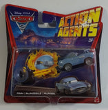 2011 Mattel Disney Pixar Cars 2 Action Agents Finn McMissle Blue Die Cast Toy Car Vehicle with Spy Gear Car Launcher New in Package