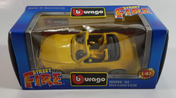 Burago Street Fire No. 4179 BMW M Roadster Yellow 1/43 Scale Die Cast Toy Car Vehicle New in Box