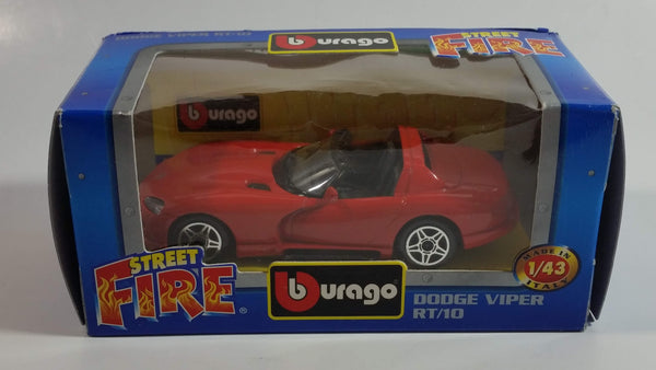 Burago Street Fire No. 4125 Dodge Viper RT/10 Red 1/43 Scale Die Cast Toy Car Vehicle New in Box