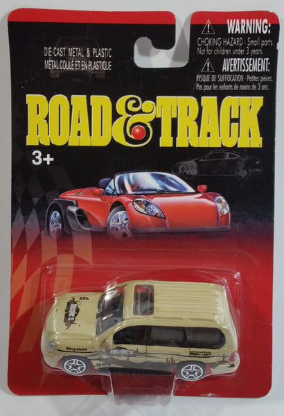 2002 Motor Max Road & Track Nicole's Daily Tour Toyota Land Cruiser Beige Light Brown Die Cast Toy Car Vehicle New in Package