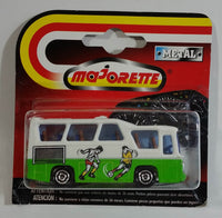 1991 Majorette No. 262 Minibus White and Green 1/87 Scale Die Cast Toy Car Vehicle New in Package