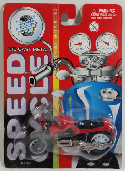 Vintage Yatming Road Tough Speed Cycle No. 1331-6 Motorcycle Street Bike BMW Red Die Cast Toy Car Vehicle New in Package