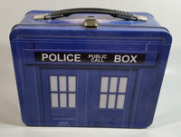 1996 BBC Doctor Who Police Public Call Box Blue Tin Metal Lunch Box Container