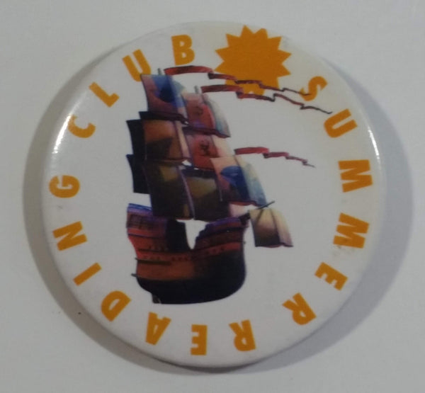 Summer Reading Club Tall Ship Boat Themed Round Button Pin
