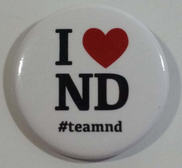 I Heart ND #teamnd North Dakota Round Button Pin