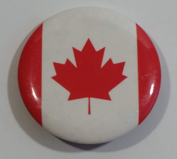 1991 Canada Canadian Flag Round Button Pin