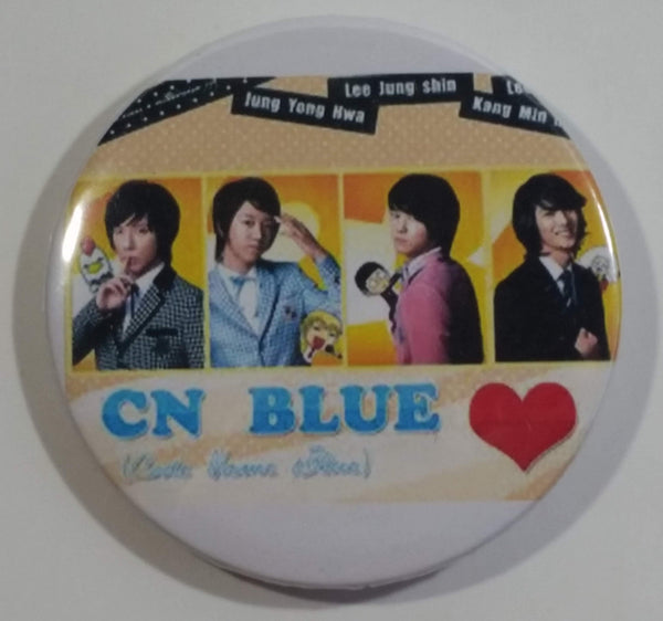 CN Blue K-Pop Music Band Round Button Pin