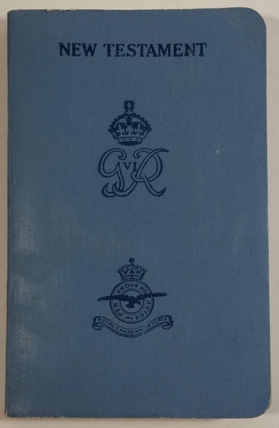1939 RCAF Royal Canadian Air Force New Testament Bible - No Name Assigned