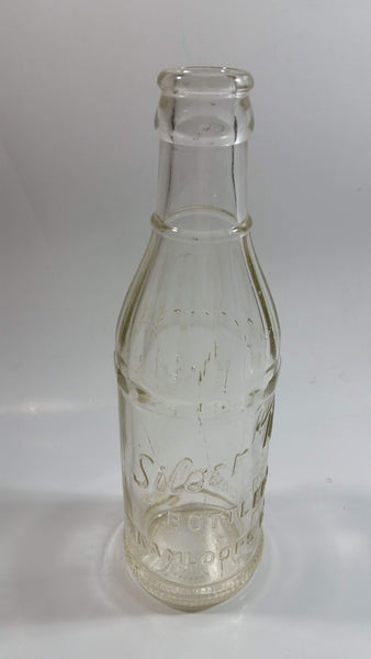 Rare Hard To Find Antique Silver Tip Bottlers Kamloops B.C. 6 1/2 Fl oz Embossed Clear Glass Beverage Bottle