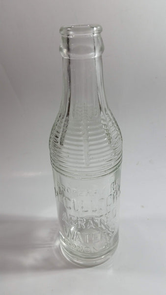Very Rare Antique McCulloch's Aerated Water Vernon, B.C. Embossed Clear Glass Beverage Bottle
