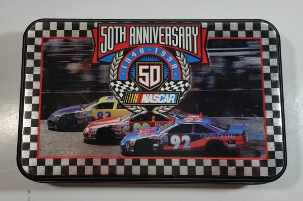 1948-1998 NASCAR 50th Anniversary Limited Edition Playing Cards in Numbered Collector Tin - 2 Packs Sealed