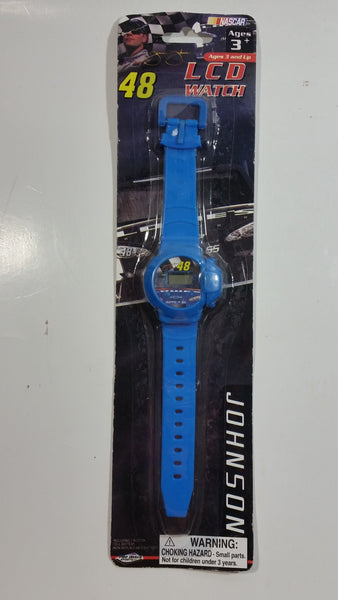 2009 Pro Image Sports Marketing NASCAR #48 Jimmie Johnson Lowe's Blue LCD Watch New in Package