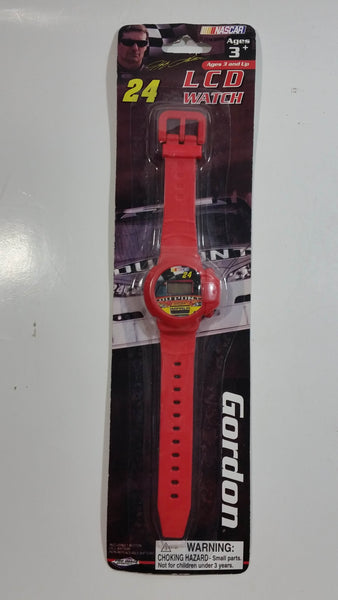 2009 Pro Image Sports Marketing NASCAR #24 Jeff Gordon Dupont Red LCD Watch New in Package